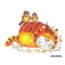 0-01 Набор для вышивания 'Алиса' 'Ленивый кот', 11х9 см