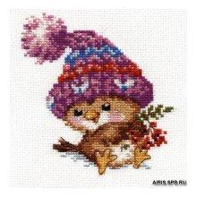 0-101 Набор для вышивания 'Алиса' 'Воробушек', 11х12 см
