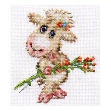 0-105 Набор для вышивания 'Алиса' 'Милая овечка', 10х12 см