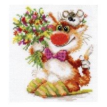 0-108 Набор для вышивания 'Алиса' 'Спешим поздравить!', 13х15 см