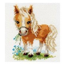 0-114 Набор для вышивания 'Алиса' 'Белогривая лошадка', 12х14 см