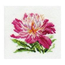 0-119 Набор для вышивания 'Алиса' 'Розовый пион', 10х11 см