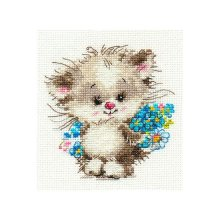 0-126 Набор для вышивания 'Алиса' 'Моей киске', 10х11 см