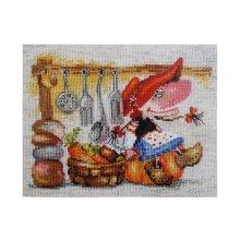 0-129 Набор для вышивания 'Алиса' 'Овощная кладовушка', 19х15 см