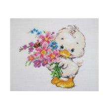 0-130 Набор для вышивания 'Алиса' 'Желаю счастья', 12х12 см