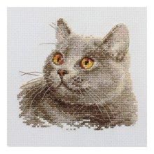 0-134 Набор для вышивания 'Алиса' 'Британский кот', 12х11 см
