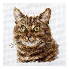 0-135 Набор для вышивания 'Алиса' 'Европейский кот', 12х11 см