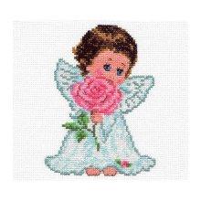 0-13 Набор для вышивания 'Алиса' 'Ангелок любви', 10х14 см