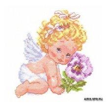 0-14 Набор для вышивания 'Алиса' 'Ангелок счастья', 12х14 см