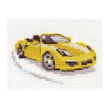0-156 Набор для вышивания 'Алиса' 'Желтый спорткар', 9х6 см