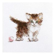 0-169 Набор для вышивания 'Алиса' 'Маленькая киса', 10х8 см