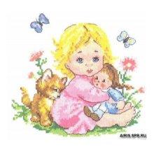 0-27 Набор для вышивания 'Алиса' 'Аленка', 18х16 см