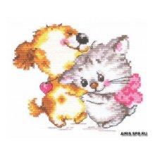 0-36 Набор для вышивания 'Алиса' 'Обожаю', 14х11 см
