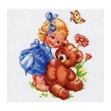 0-40 Набор для вышивания 'Алиса' 'Машенька', 13х15 см