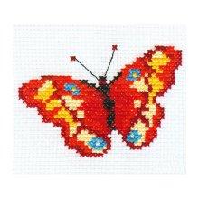 0-43 Набор для вышивания 'Алиса' 'Бабочка', 10х7 см