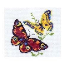 0-50 Набор для вышивания 'Алиса' 'Бабочки-красавицы', 10х11 см