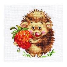0-51 Набор для вышивания 'Алиса' 'Ёжик с клубникой', 11х12 см