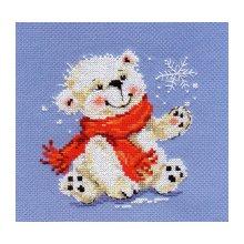 0-53 Набор для вышивания 'Алиса' 'Белый медвежонок', 12х13 см