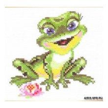 0-57 Набор для вышивания 'Алиса' 'Лягушечка', 11х11 см