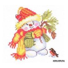 0-59 Набор для вышивания 'Алиса' 'Снеговичок', 10х10 см