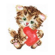 0-61 Набор для вышивания 'Алиса' 'Любимая киска', 10х11 см