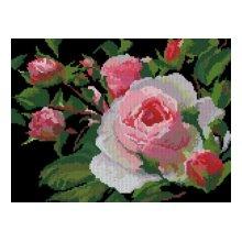 0002 Набор для вышивания Nitex 'Роза', 30х22,5 см