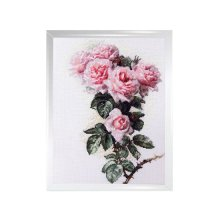 0003 Набор для вышивания 'Ажур' 'Розы и шмели' 23x34 см
