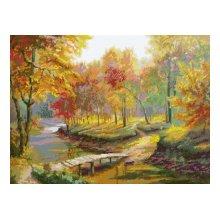 0005 Набор для вышивания Nitex 'Осенняя прогулка', 56х42 см