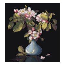 0015 Набор для вышивания Nitex 'Голубая ваза', 34х36 см