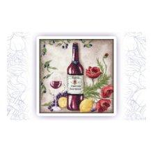 001 Набор для вышивания крестом Astrea 'Вино 2' 31х31 см