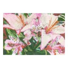 005-0701 Набор д.вышивания JANLYNN 'Азиатские лилии' 30,5х20,3 см