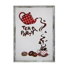 008 Набор для вышивания Astrea 'Чайная вечеринка' 20х28 см