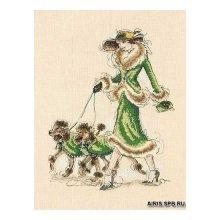 01070-5678000 Набор для вышивания MAIA 'Игривые пудели' 30х20 см