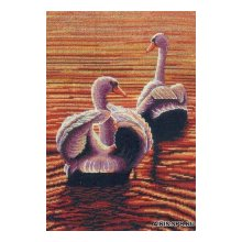01158-5678000 Набор для вышивания MAIA 'Лебеди в сумерках', 30x20 см