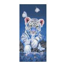01165-5678000 Набор для вышивания MAIA 'Белый тигренок', 30x15 см