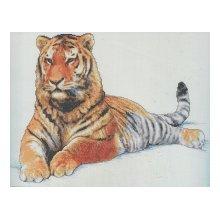 013-0336 Набор д.вышивания JANLYNN 'Маньчжурский тигр' 45,7х33 см