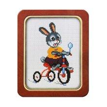 015 Набор для вышивания Lutars 'Велосипедист', 13х18 см