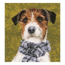 0167505-PN Набор для вышивания Lanarte 'Собака с шарфом' 28х29 см