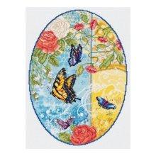 023-0592 Набор д.вышивания JANLYNN 'Butterfly Fantasy' 25,4х35,6 см