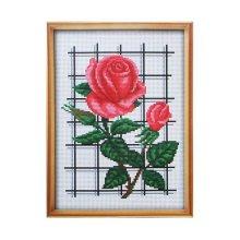 047 Набор для вышивания Lutars 'Розы', 15х20 см