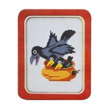 101 Набор для вышивания Lutars 'Гнездо', 14х15 см