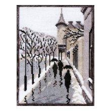 1020 Набор для вышивания Alisena 'Городские силуэты' 15х19см