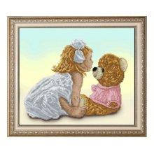 10414 Набор для вышивания Краса и творчество 'Моя подружка Маша 1' 38,4х25,4 см