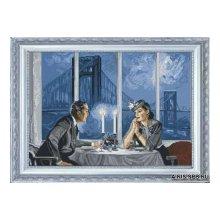 10611 Набор для вышивания Краса и творчество 'Хрустальный вечер' 48,7х36,3 см