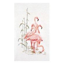 1070 Набор для вышивания Gouverneur 'Фламинго', лён, 65х38 см