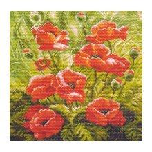 1191 Набор для вышивания подушка 'Матренин Посад' 'Маковый зной', 34х34 см