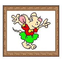 15 Набор для вышивания 'Мышь' 18,5х20 см