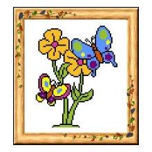 19 Набор для вышивания 'Бабочки' 18,5х20 см