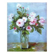 2397 Комплект для вышивания бисером Design Works 'Розовые розы' 21х25 см