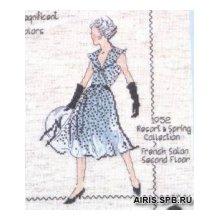 2407 Комплект для вышивания Design Works 'Пара модниц' 22,5х30 см